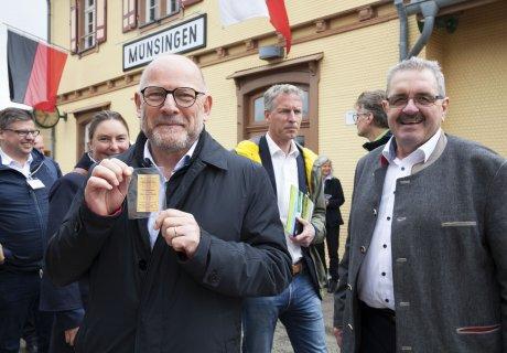 Verkehrsausschuss besucht SAB - Minister Hermann