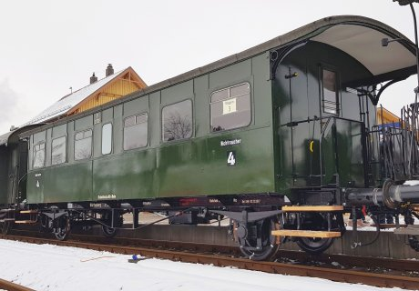 SAB Württemberger Wagen Nr. 2732 in Hauptuntersuchung