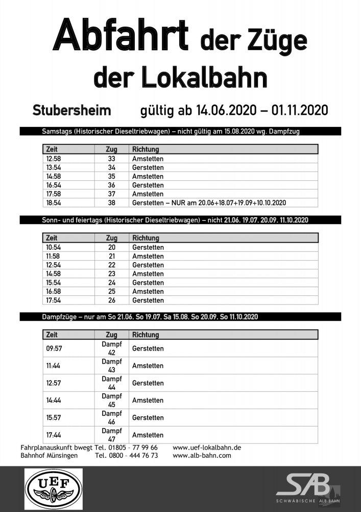 Abfahrtsplan Stubersheim