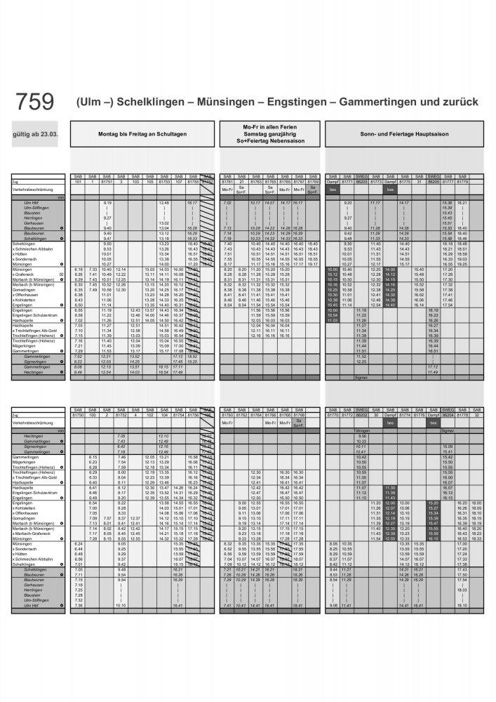 Sonderfahrplan A4 ab 23.03.2020