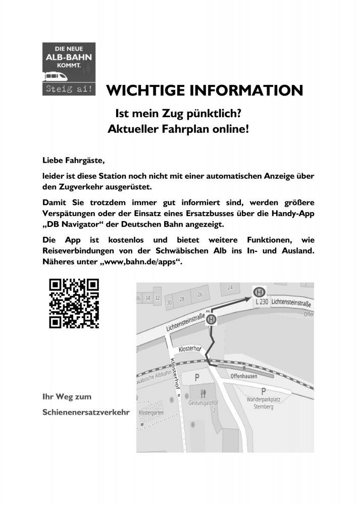 Stationsaushang Offenhausen
