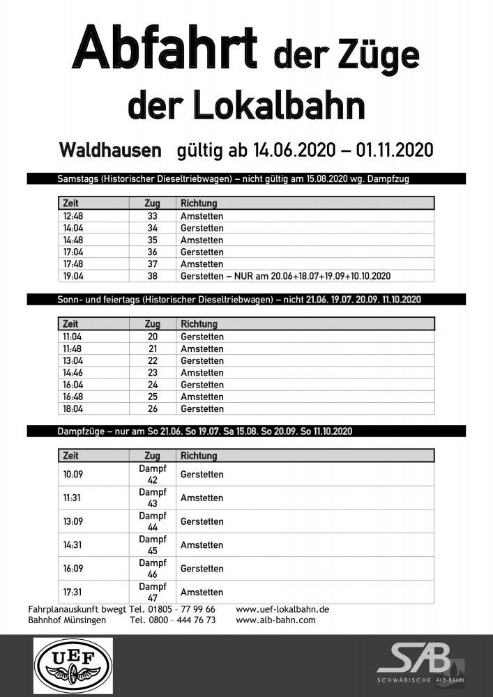 Abfahrtsplan Waldhausen