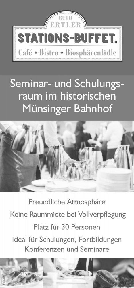 Seminare und Veranstaltungen im Stationsbuffet