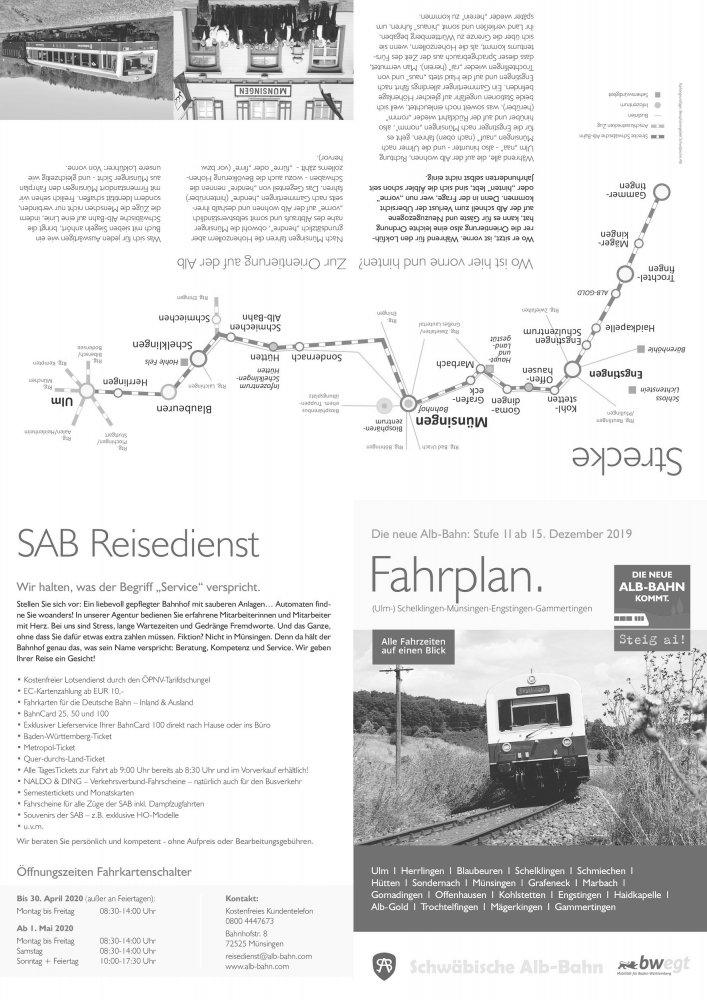 Ein-Blick-Fahrplan 2020 Poster