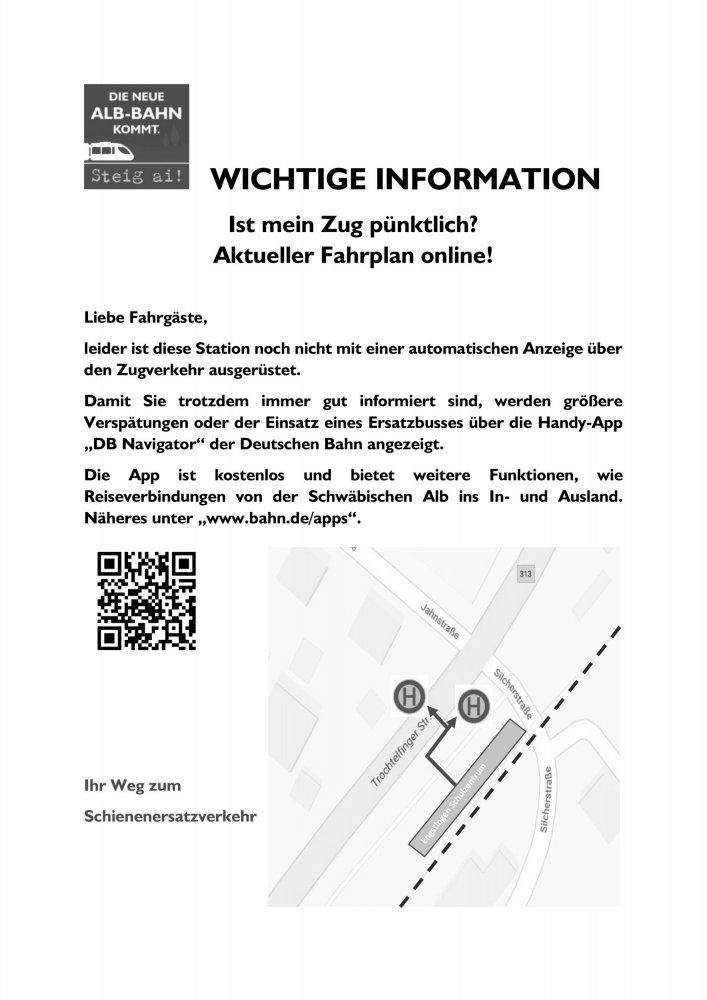 Stationsaushang Engstingen Schulzentrum