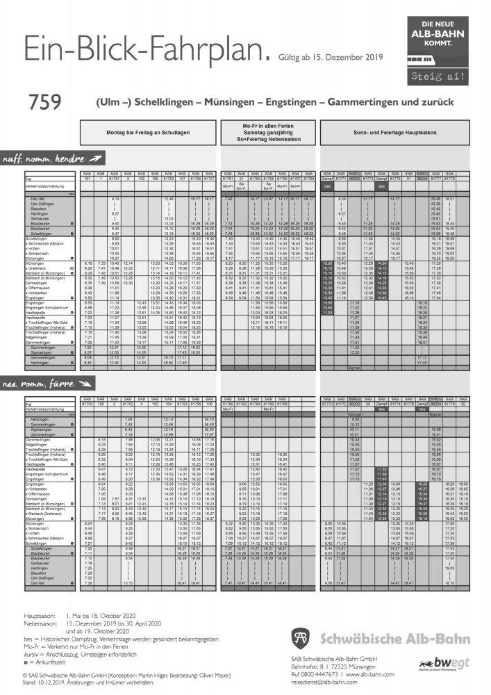Ein-Blick-Fahrplan 2020 A4