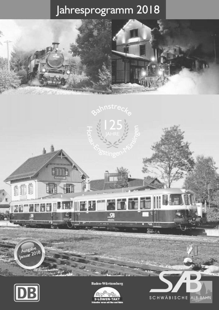 Das Jahresprogramm der Schwäbischen Alb Bahn 2018