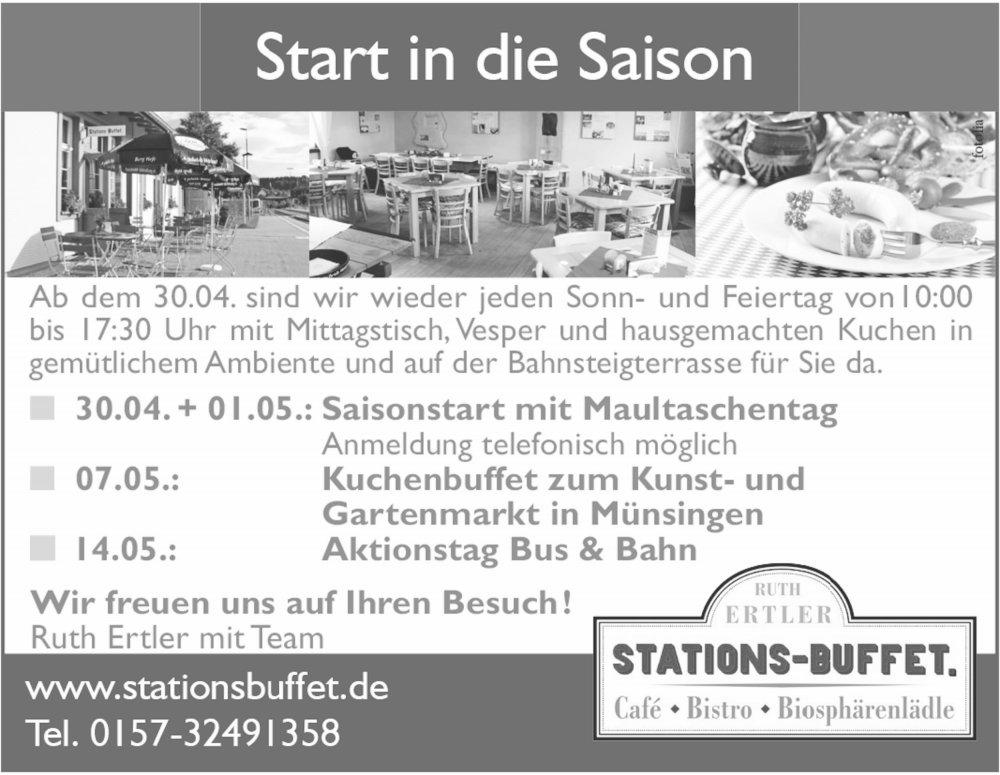 Stations-Buffet Saisoneröffnung 2017