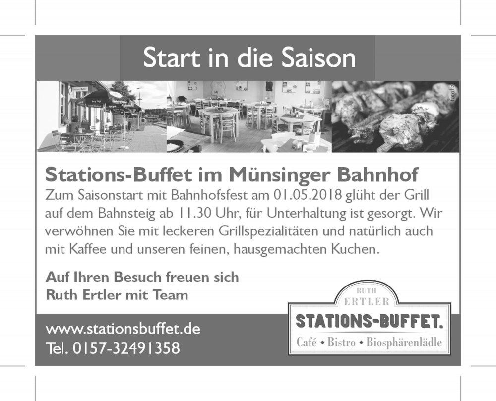 Stations-Buffet Münsingen - Saisoneröffnung