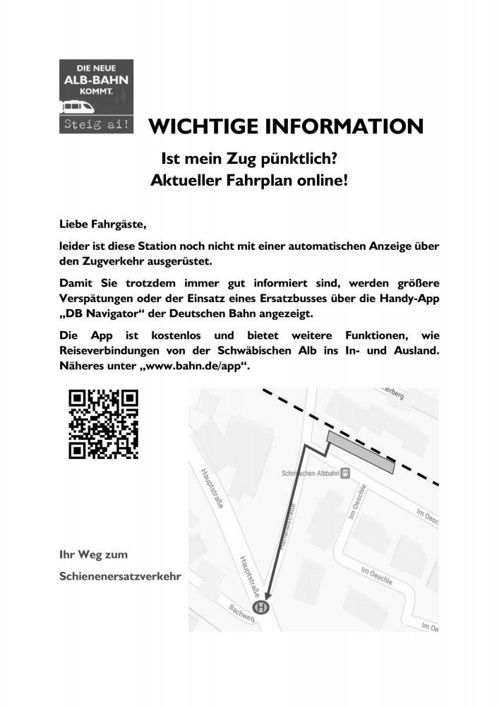 Stationsaushang Schmiechen
