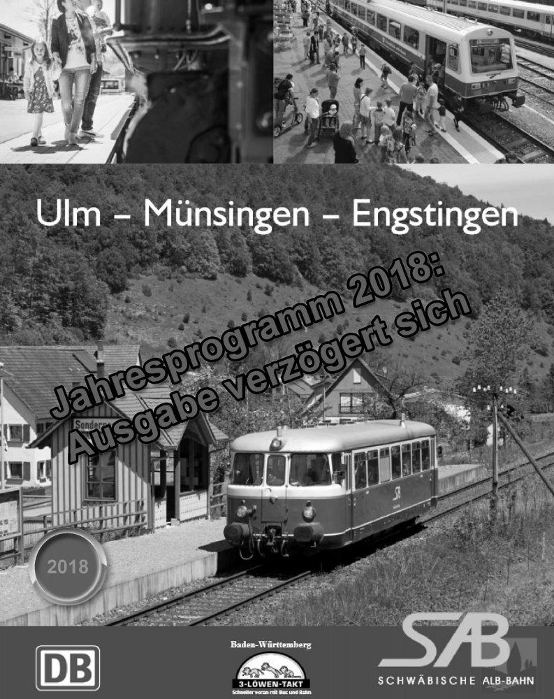 Das Jahresprogramm 2018 der Schwäbischen Alb-Bahn ist noch in Arbeit