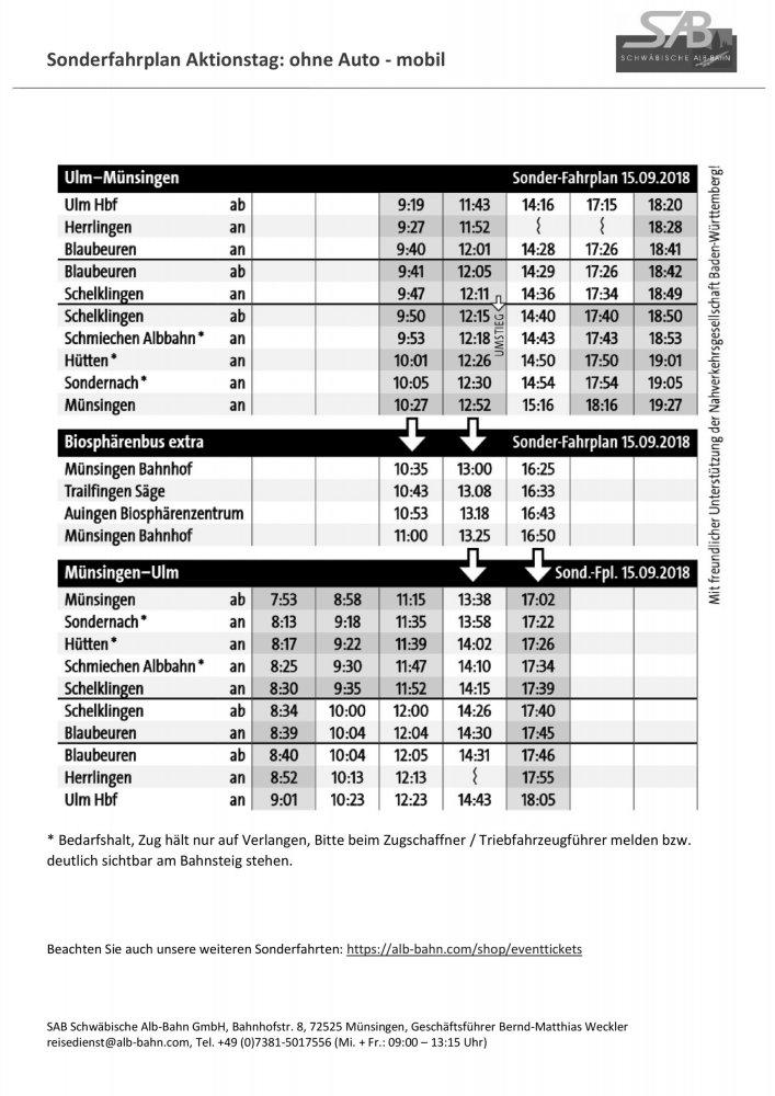 PDF Download: Fahrplan zum Aktionstag: ohne Auto - mobil