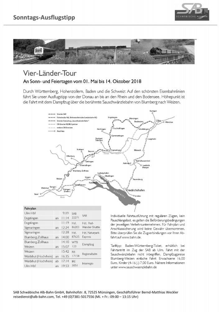 SAB Ausflugstipp: Vier Länder Tour