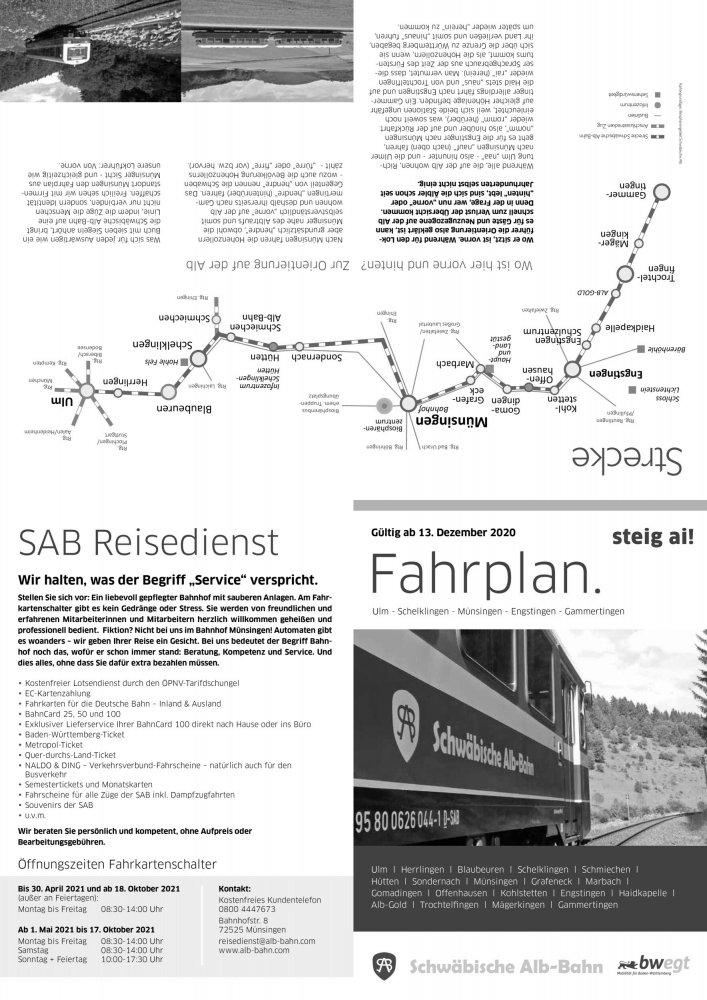 Ein-Blick-Fahrplan 2021 Faltblatt