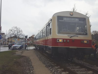 Kollision am Bahnübergang Lautertalstraße